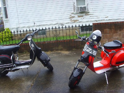 A photo of cutdown scooter