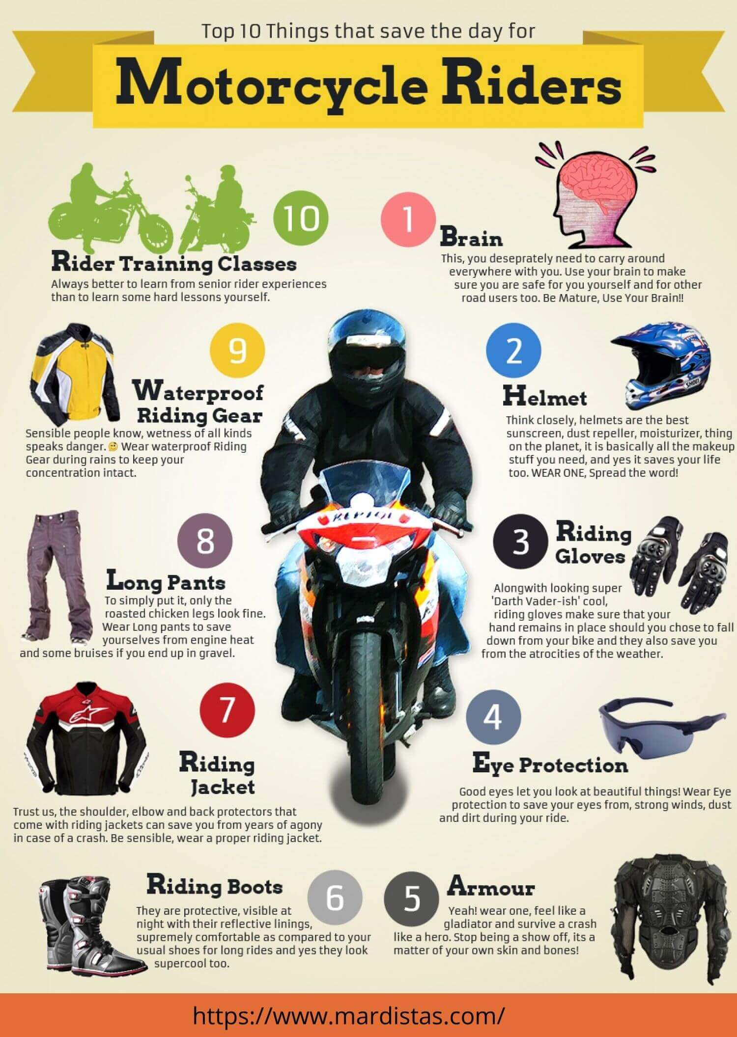 motorcycle protective gear Infographic- mardistas